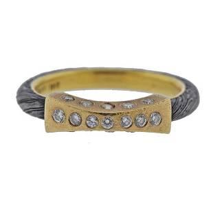 18k 22k Steel Diamond Band Ring