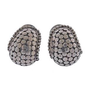 John Hardy Sterling Silver Dot Earrings