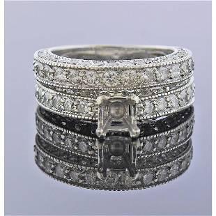 14K Gold Diamond Wedding Engagement Ring Set