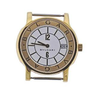 Bvlgari Bulgari Solotempo 18k Gold Watch ST35G