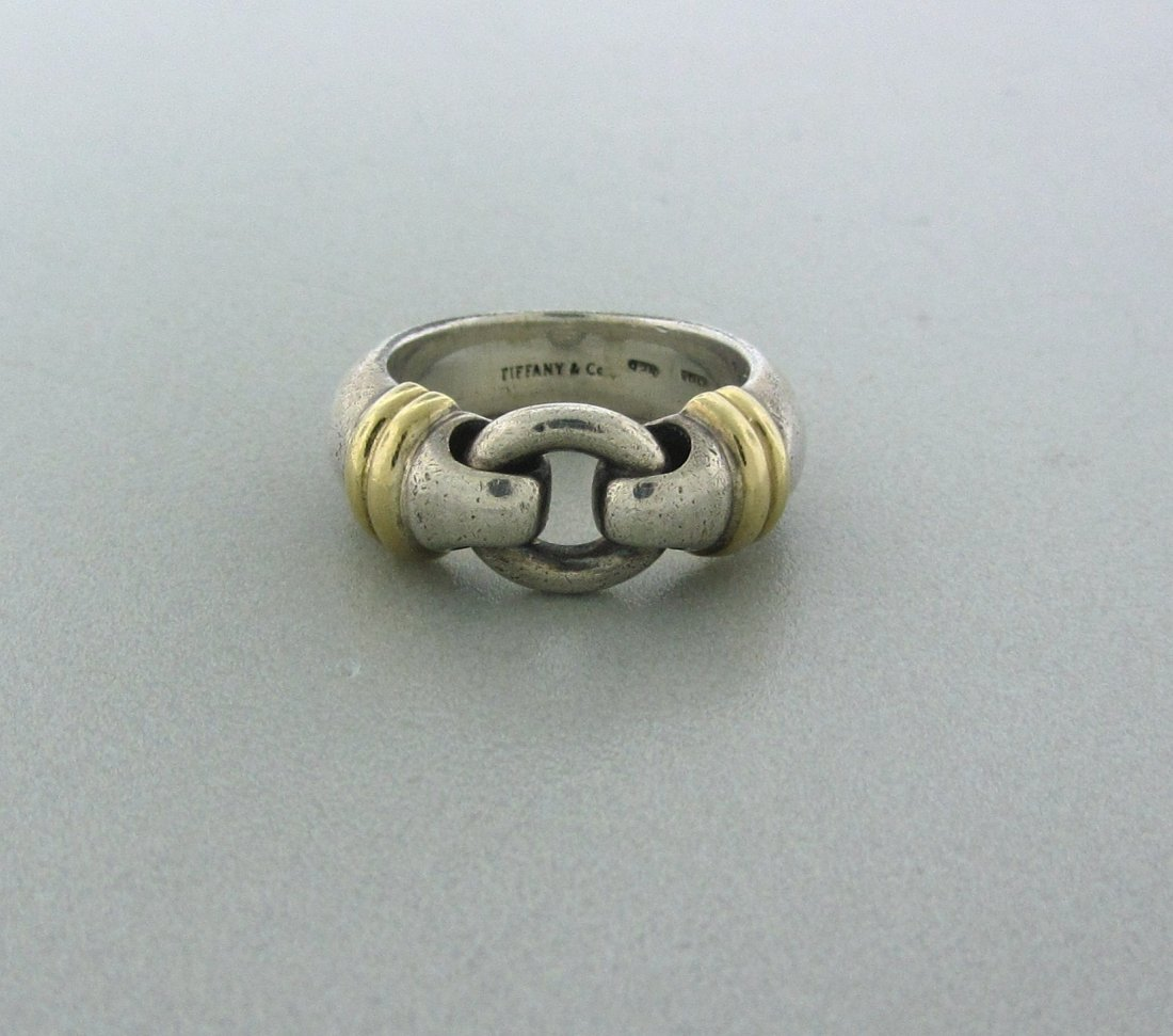 012: Tiffany & Co Sterling Silver 18k Gold Ring