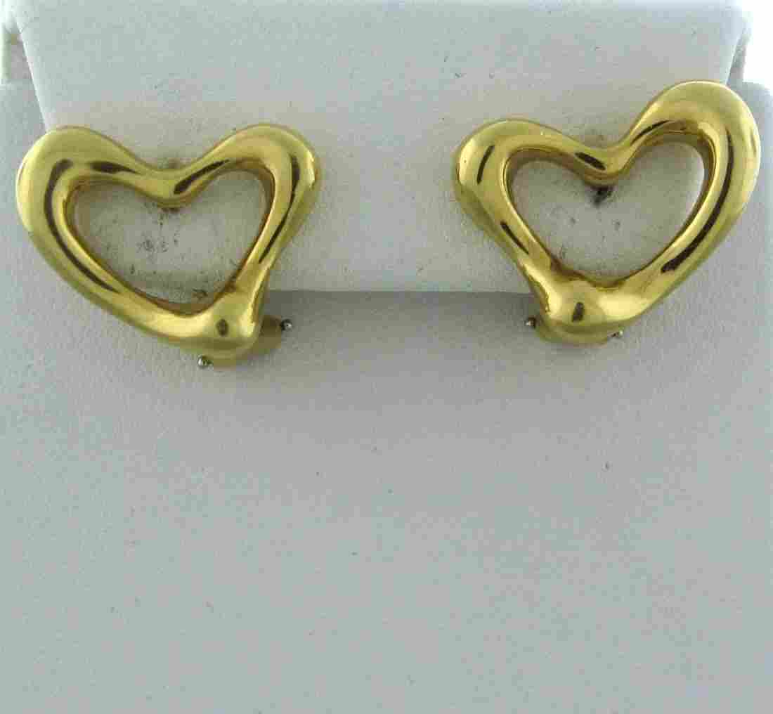 015: Tiffany & Co Elsa Peretti 18k Gold Open Heart Earr