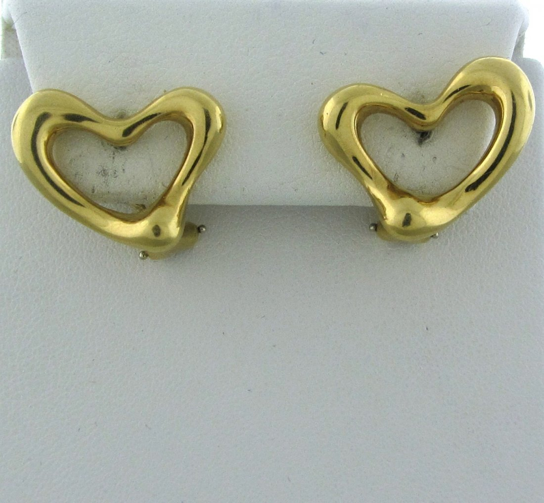 015: Tiffany & Co Elsa Peretti 18k Gold Open Heart Earr