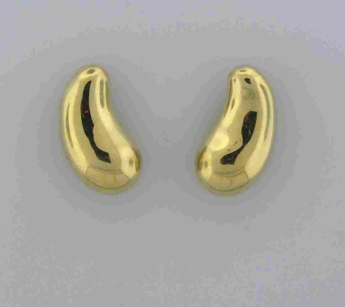 018: Tiffany & Co Elsa Peretti 18k Gold Bean Earrings