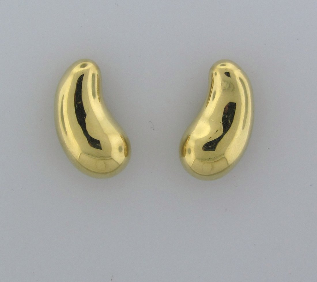 018: Tiffany & Co Elsa Peretti 18k Gold Bean Earrings