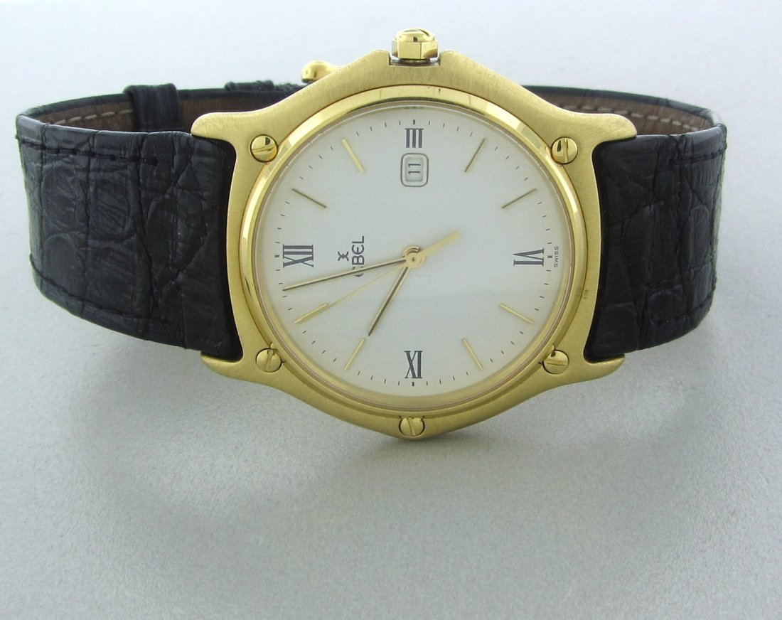 020: Ebel 18k Yellow Gold Mens Watch