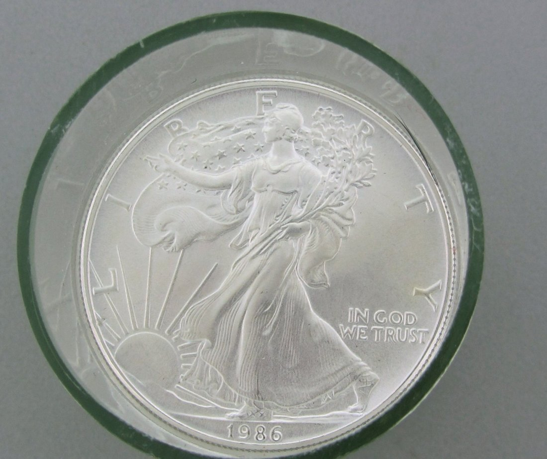 189: 10 ( ten ) 1986 Uncirculated American Silver Eagle