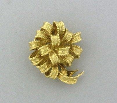 001: Estate Tiffany & Co 18k Gold Brooch Pin
