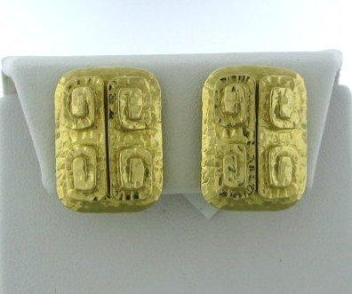 004: Estate David Webb 18k Gold Earrings