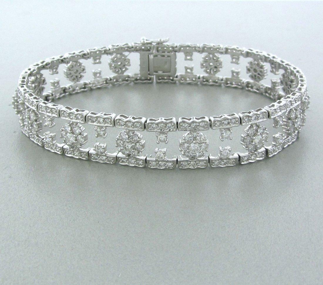 012: Estate 18k White Gold Diamond Bracelet
