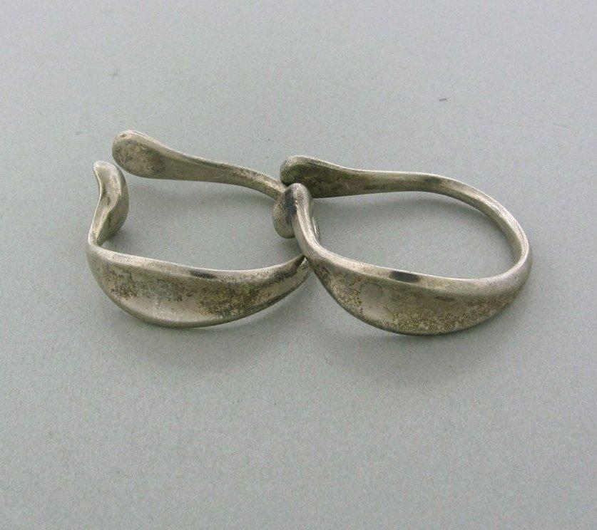 015: Vintage Tiffany  Co Peretti Sterling Bone Earrings