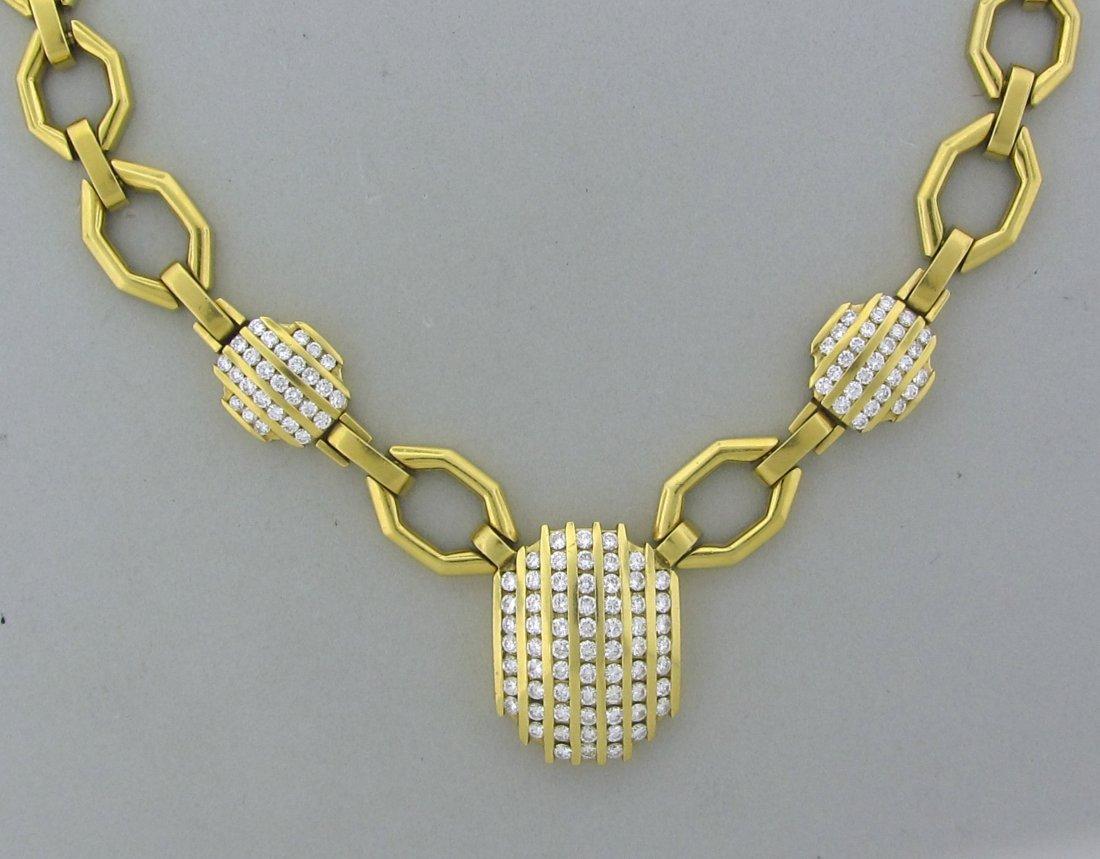 003: Estate 18k Yellow Gold 7.5ctw Diamond Necklace