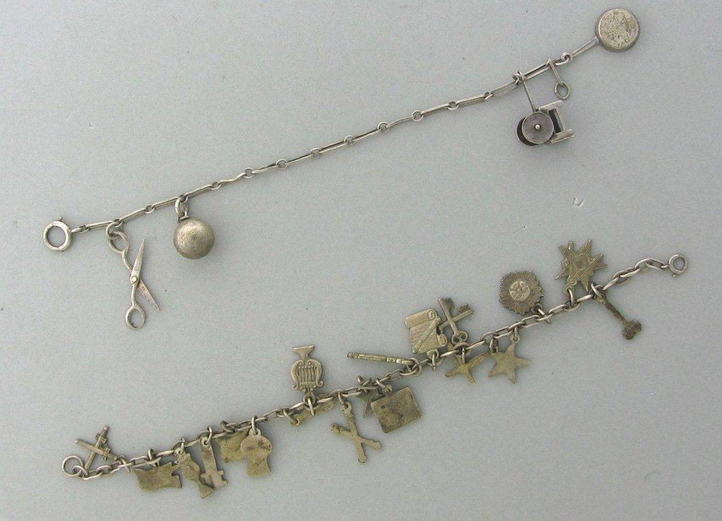 005: Vintage Sterling Charm Bracelet Lot of 2