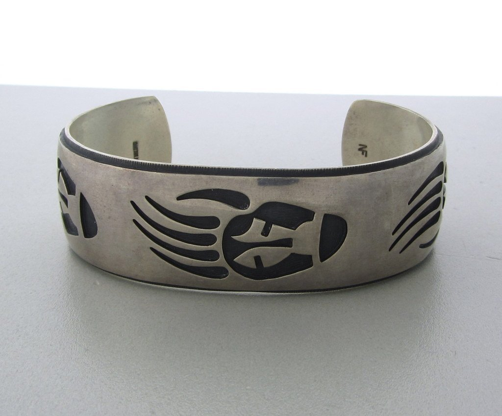 007: Native American Hopi Nathan Fred Sterling Bracelet