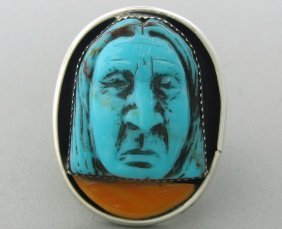 Native American Sterling Gemstone Ring