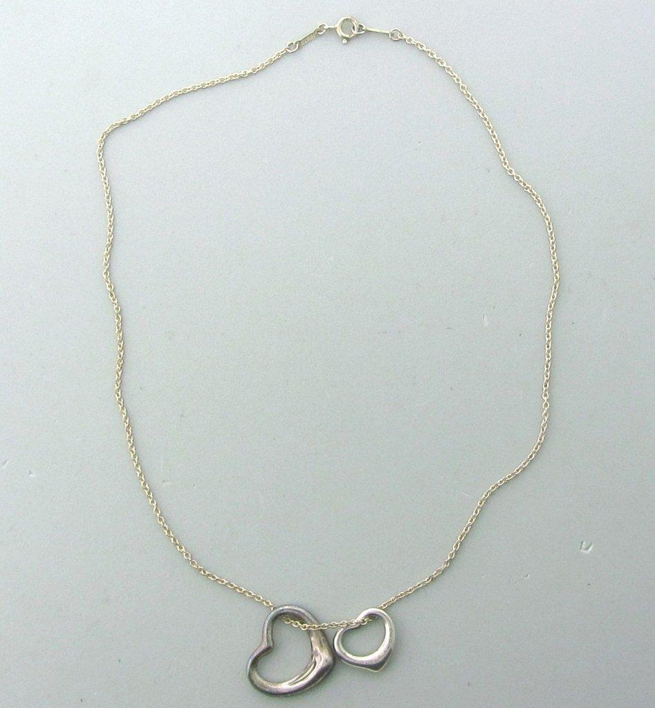 020: Tiffany & Co Peretti Open Heart Pendant Necklace