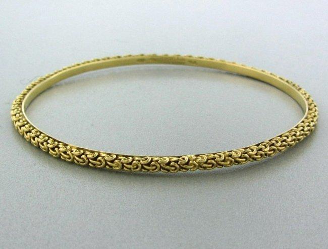 3: Vintage Tiffany & Co 18k Gold Bangle Bracelet