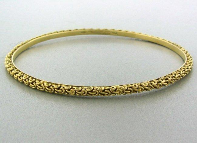3: Vintage Tiffany & Co 18k Gold Bangle Bracelet - 2