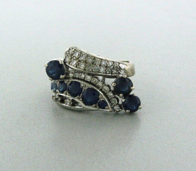 8: Vintage 14k Gold Diamond 2.25ctw Sapphire Ring