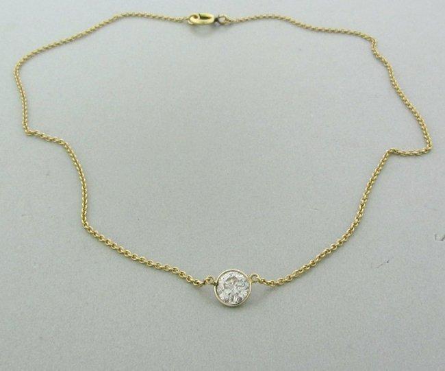 11: Estate 14k Gold 1.5ct Diamond Pendant Necklace
