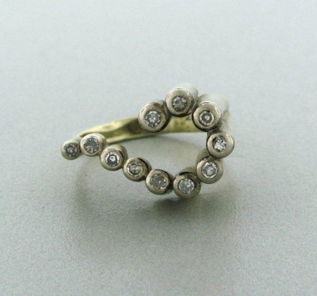 12: Estate 14k Gold Diamond Ring
