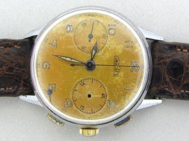 16: Vintage Angelus Chronograph Steel Watch