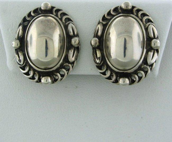 18: Georg Jensen Sterling Silver Earrings #1995