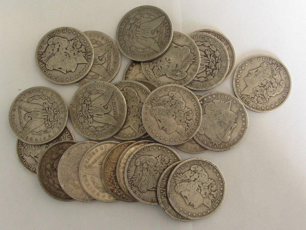43: US MORGAN SILVER DOLLAR COIN LOT 25pc