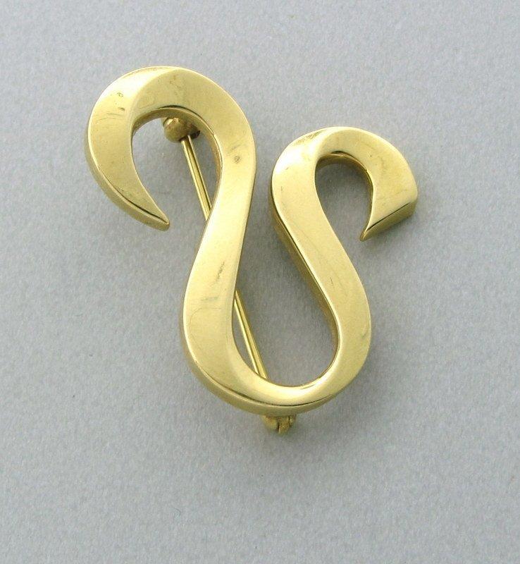 Tiffany & Co Picasso 18k Gold Leo Zodiac Sign Brooch