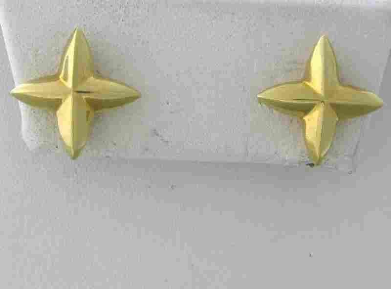 Tiffany & Co Elsa Peretti 18k Gold Star Earrings