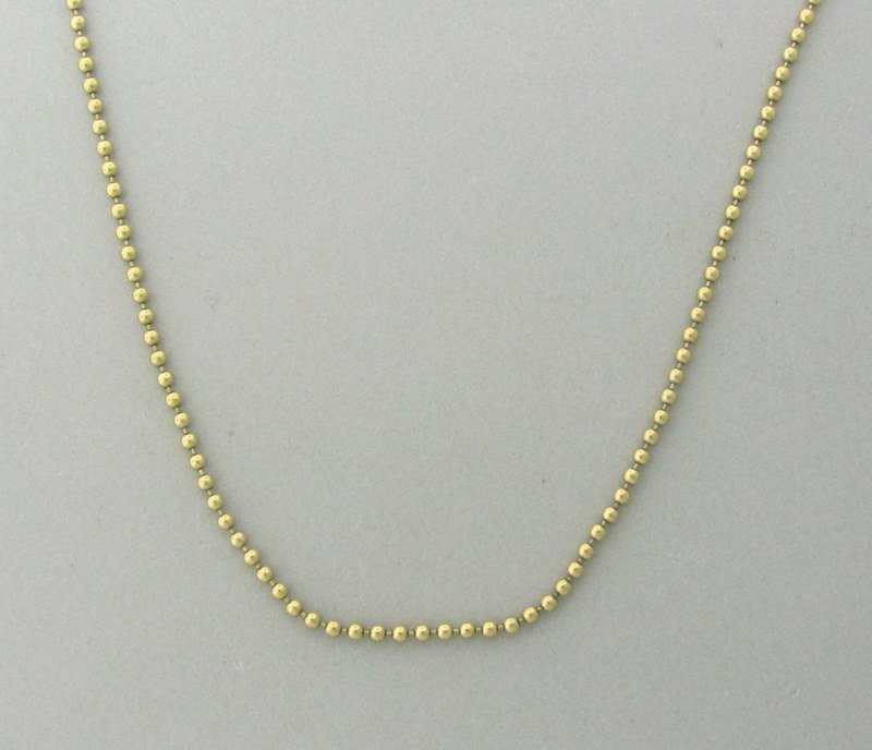 Tiffany & Co 18k Gold Beaded Chain Necklace - 2