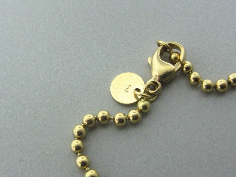 Tiffany & Co 18k Gold Beaded Chain Necklace - 5