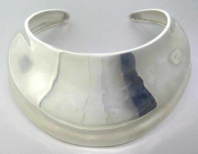 Robert Lee Morris Wide Sterling Collar Necklace