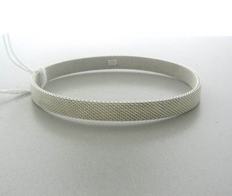 Tiffany & Co  Sterling Textured Bangle