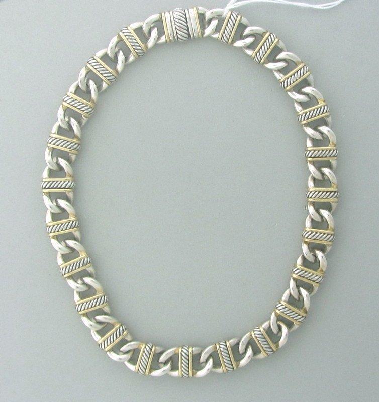 David Yurman Sterling 18k Gold Chain Necklace