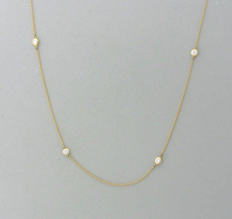 Tiffany & Co Peretti 18K Diamond By The Yard Necklace