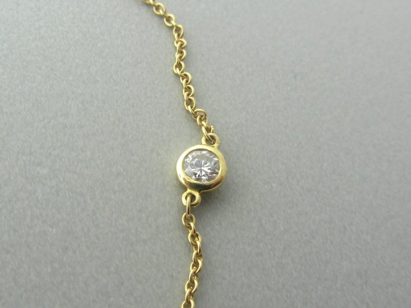 Tiffany & Co Peretti 18K Diamond By The Yard Necklace - 4