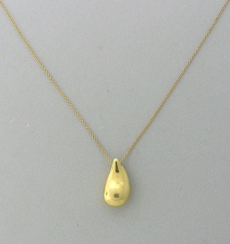 Tiffany & Co Peretti 18k Gold Teardrop Pendant