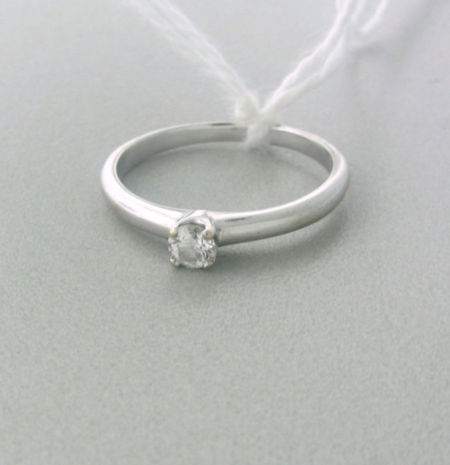 Engagement Rings Sterns: H.Stern Platinum 0.16 Diamond Engagement Ring : Lot 143