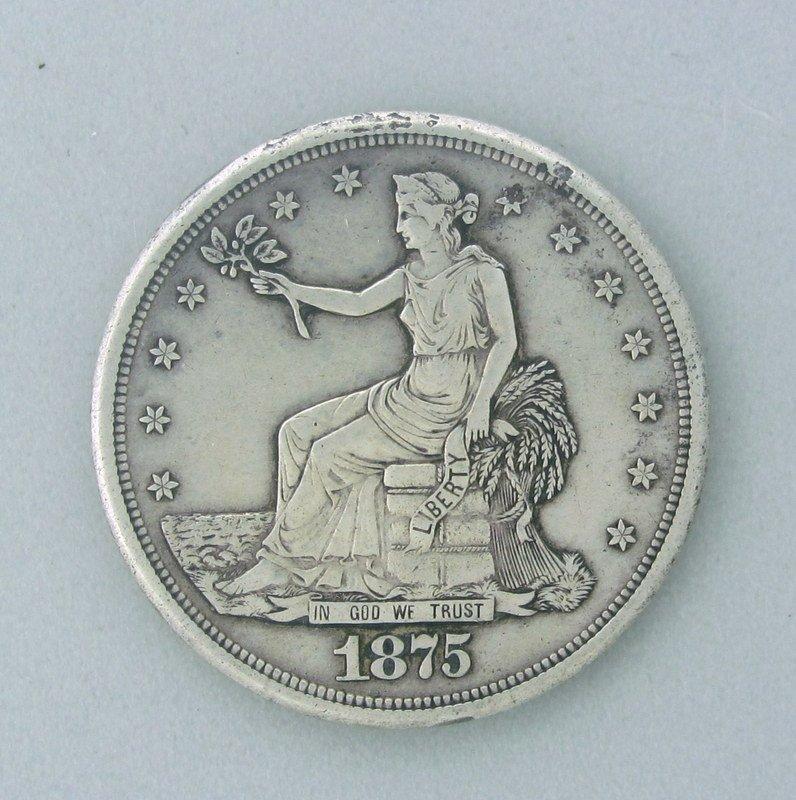 US 1875 S Trade Dollar Coin