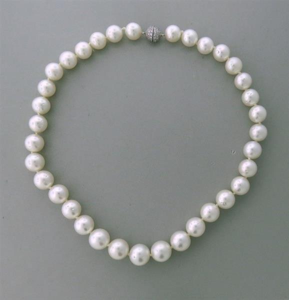 Estate Sophia D Platinum South Sea  Pearl Diamond