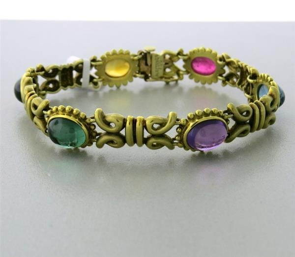 Vintage Aletto & Co Gold Multi Color Gemstone