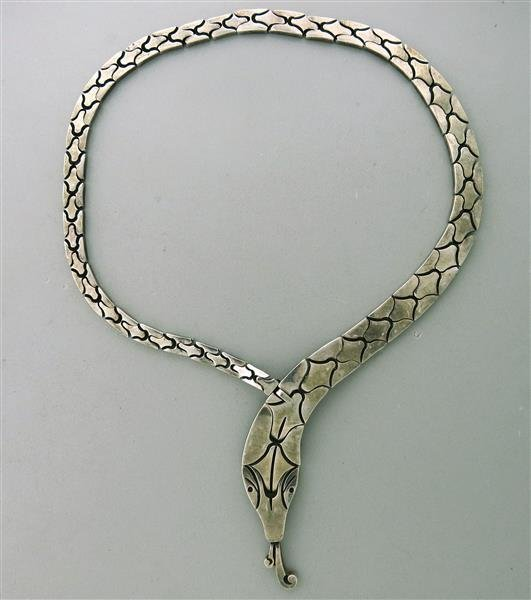 Salvador J Garcia Taxco Mexican Sterling Snake Necklace