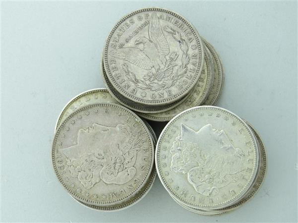 US 1921 Morgan Silver Dollar Coin Roll of 20