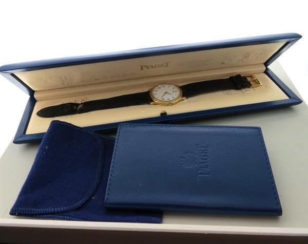 18k Gold Piaget  Watch Skeleton Back ref 90970 - 3