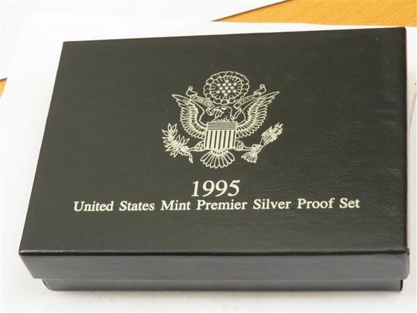 US 1995 S Mint Premier Silver Coin Proof Set with COA