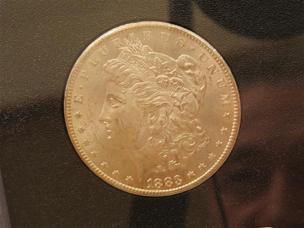 US 1883 Carson City Morgan Silver Dollar Coin