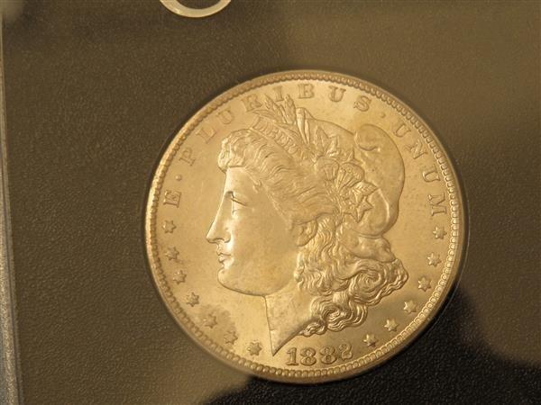 US 1882 Carson City Morgan Silver Dollar Coin