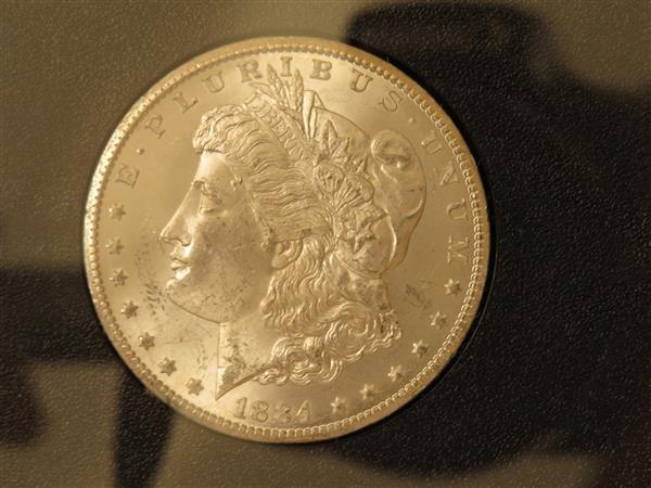 US 1884 Carson City Morgan Silver Dollar Coin #84479208