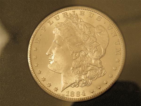 US 1884 Carson City Morgan Silver Dollar Coin #84670751
